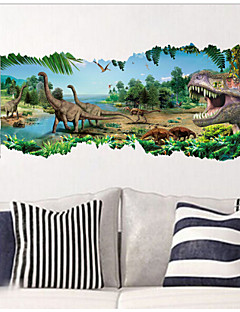 2015 New ZooYoo® 1458 Jurassic Park Movie Dinosaurs Wall Stickers