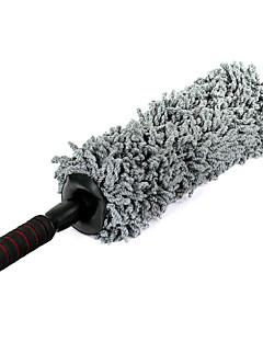 super bløde chenille nano fiber bil duster m / rustfrit stål udvides håndtag - grå + sort