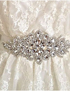 Organza/Alloy Wedding Handmade luxurious  Rhinestone waist belt