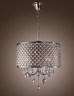 Chandeliers Crystal Traditional/Classic Living Room/Bedroom/Dining Room/Study Room/Office/Entry Metal