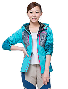 Makino Women's Front-zip Hooded Rain Jacket Windbreaker Outwear 1249-2