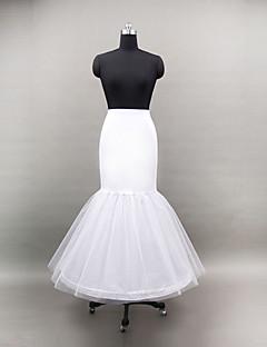 Déshabillés Robe sirène et robe évasée Ras du Sol 2 Filet de tulle Polyester Blanc