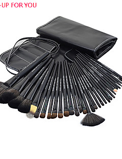 make-up för dig 32pcs svart professionell makeup borste set