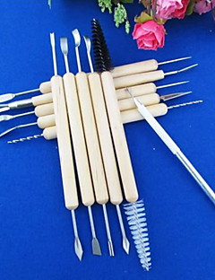 Wood Handle Wax Pottery Clay Sculpture Carving Modeling Tool(1set 11pcs)