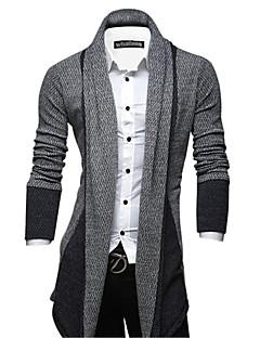 Men's Striped Cardigan , Polyester Long Sleeve