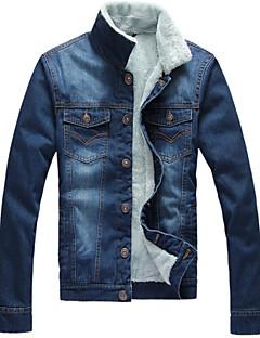 Men's Pure Long Sleeve Jacket , Cotton Casual/Formal Add wool Warm coat