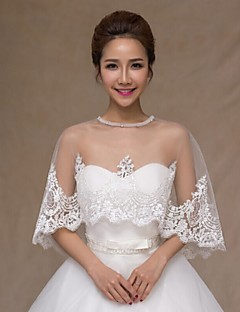 Wedding  Wraps Capelets Sleeveless Lace White Wedding / Party/Evening / Office & Career / Casual Bateau Lace Pullover