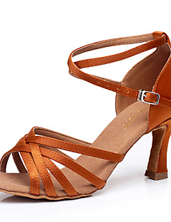 Chaussures de danse ( Noir / Bleu / Marron / Rouge / Autre ) - Non personnalisable - Talon aiguille - Satin -Danse latine / Sneakers de
