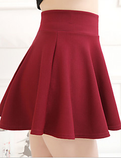 Polyester-Micro-elastisch-Schattig-Mini-Vrouwen-Rokken