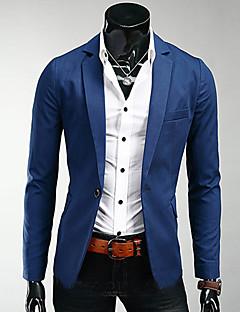 Herren Solide Arbeit Blazer Lange Ärmel Standard Polyester