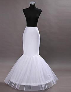 Slips Mermaid and Trumpet Gown Slip Tea-Length 2 Nylon White
