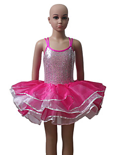 Double Straps Cross Back Camisole Sequin Leotard Tutu for Ladies and Girls