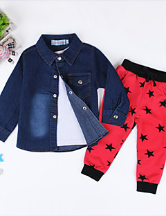 Boy's Polyester  Medium Fashion Cotton Blend Long Sleeve Cowboy 3 Pieces Clothing Set
