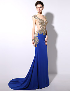 Royal Blue Trumpet/Mermaid Floor-length Formal Evening Dress