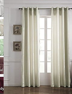 TWOPAGES Tom Collection Solid Faux Silk Polyester Panel Curtain (One Panel)