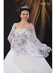 Widened with large shawl dress  shawls gules paillette bride qipao shawl