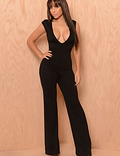 Women's Sexy Casual Party V Neck Sleeveless Jumpsuits