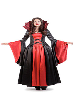 Classic  Marie Antoinette Inspired Dress Red and Black Halloween Party Dress