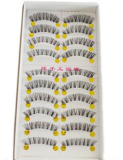 10 pairs Wimpern Augenwimpern Others Augen Kreuz und quer / Natürlich lang / Das Ende ist längerVerlängert / Gehobene Wimpern / Natürlich