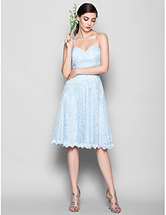 Lanting Bride® Knee-length Lace Bridesmaid Dress A-line Sweetheart Plus Size / Petite with Lace