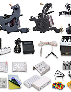 Starter Tattoo kit 2 Tattoo Machine Power Supply Needles