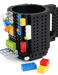 blokken mok bouwen baksteen blok koffie thee drank beker cup creatieve grappige mok coofee cup