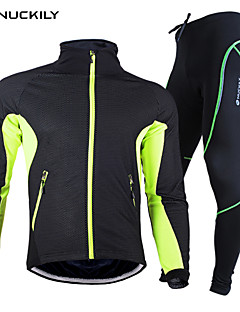 NUCKILY® Cycling Jacket with Pants Unisex Long Sleeve BikeWaterproof / Breathable / Thermal / Warm / Quick Dry / Windproof / Anatomic