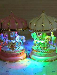 Merry-go-round boîte à musique à cheval cadeau d'anniversaire de noël boîte à musique de carrousel