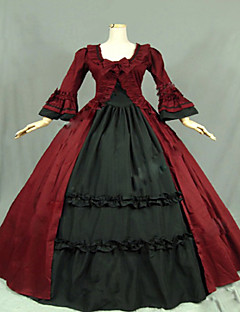 Steampunk®Gothic Wine Red and Black Civil War Southern Belle Lolita Ball Gown Dress