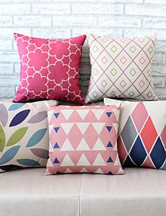 5pcs motifs géométriques taie d'oreiller housse de canapé décoration de la maison de coussin (17,7 * 17,7 pouces)