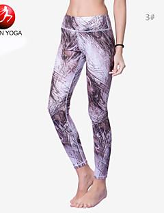 מכנסיים קצרים / חותלות / גרביונים אימונית יוגה לנשים לנשימה / הפתילה / דחיסה / חומרים קלים / פילאטיס