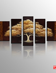 BPAGO ® Modern Happy Tree Five Stretched Canvas Print Ready to Hang