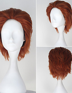 HUNTER×HUNTER Hisoka Men's Short Straight Auburn Color Anime Cosplay Full Wig