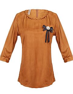 יומיומי עגול - שרוול ארוך - נשים - חולצות ועליוניות ( אקרילי / תערובת כותנה )