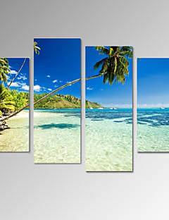 キャンバスセット 風景 カジュアル Modern,4枚 縦長 版画 壁の装飾 For ホームデコレーション