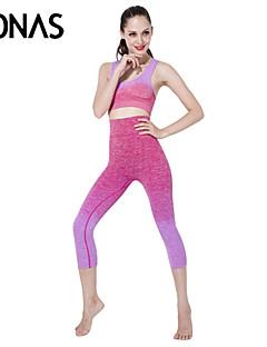 Ioga Conjuntos de Roupas/Ternos Calças + Tops Respirável / Macio Elasticidade Alta Wear Sports Mulheres - OutrosIoga / Pilates / Fitness