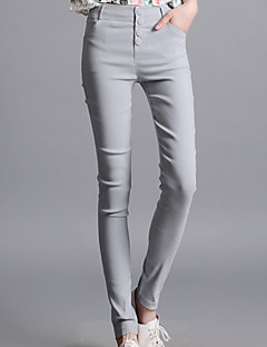 Nais- Housut - Arki / Plus-koko  -  Skinny  -  Polyesteri Mikrojoustava