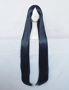 A Boring World Where the Concept of Dirty Jokes Doesn't Exist Ayame Kajou Dark Blue Long Cosplay Wig