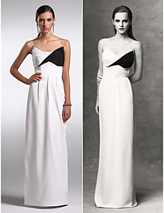 TS Couture® Formal Evening Dress Plus Size / Petite Sheath / Column Strapless Floor-length Chiffon with