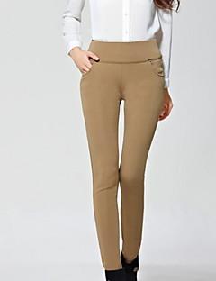 Mulheres Calças Casual Skinny Elastano / Poliéster Micro-Elástica Mulheres
