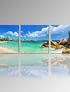 Tempo libero / Paesaggio / Fotografia / Patriotico / Moderno / Romantico / Pop art / Viaggi Print Canvas Tre Pannelli Pronto da appendere