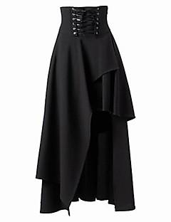 Jupes ( Coton ) Vintage / Sexy / Soirée Taille Haute / Taille Normale à Midi pour Femme