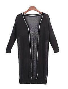 여성 - 캐쥬얼 바자형 것 긴소매 - 스웨터 ( 니트웨어 )