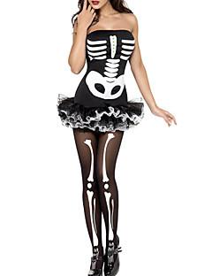 Hatter Engel & Demon Festival/høytid Halloween Kostumer Hvit & Svart Kjole Halloween / Karneval Kvinnelig Terylene / Spandex Lykra
