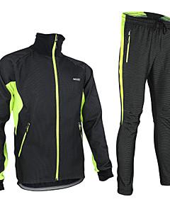 Arsuxeo® Cyklo bunda a kalhoty Pánské Dlouhé rukávy Jezdit na koleProdyšné / Zahřívací / Větruvzdorné / Anatomický design / Zateplená