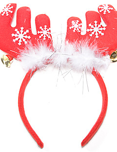 Weihnachten Federgeweihe Glocke Haarschmuck