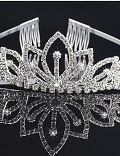 överstycken klara kristaller bröllop brud tiara