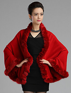Women Fox Fur Shawl & Wrap , Without Lining