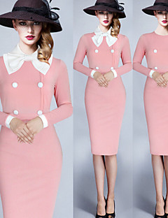 Para Women's Vintage/Sexy/Bodycon/Casual/Party/Long Sleeve Winter Dresses