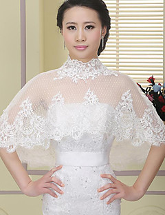 Bridal Wedding Dress Shawl Wrap Lace Embroidery Purfle Bride Bridesmaid Translucent Jacket